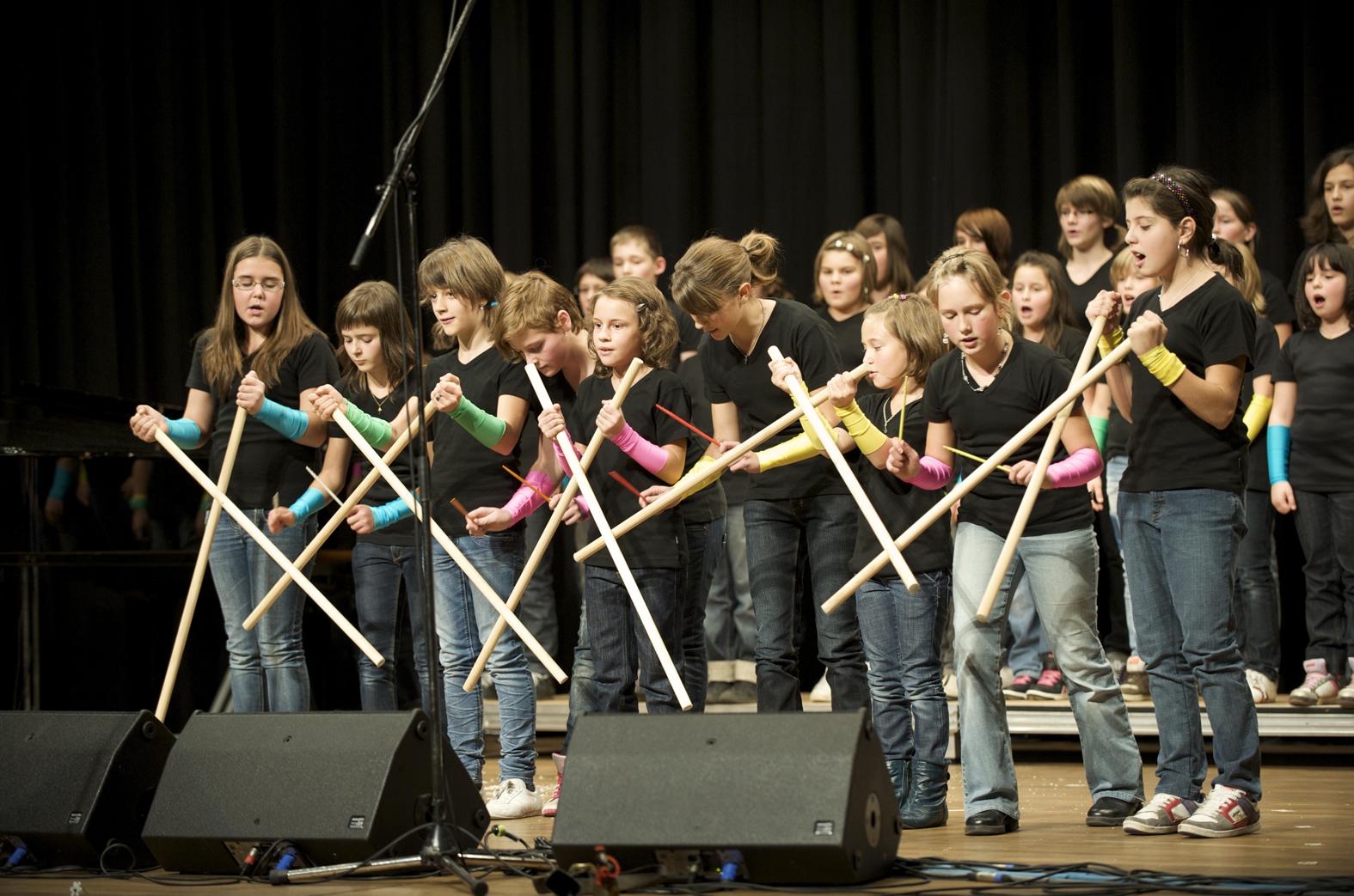 Il chor d'affons da Sumvitg è era al festival da chors d'uffants e da giuvenils da la Svizra.