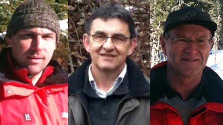 Da sanester: Renaldo Lutz, Magnus Rageth e Giachen Bott.