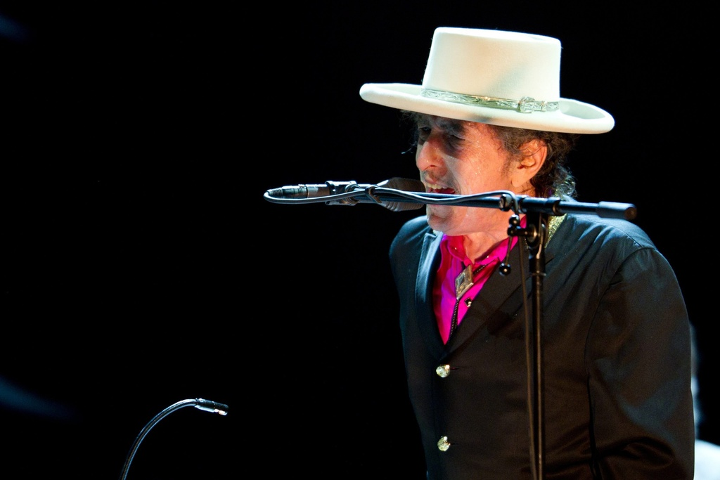 Era il starmusicist american Bob Dylan vegn a concertar al festival da jazz 2012.