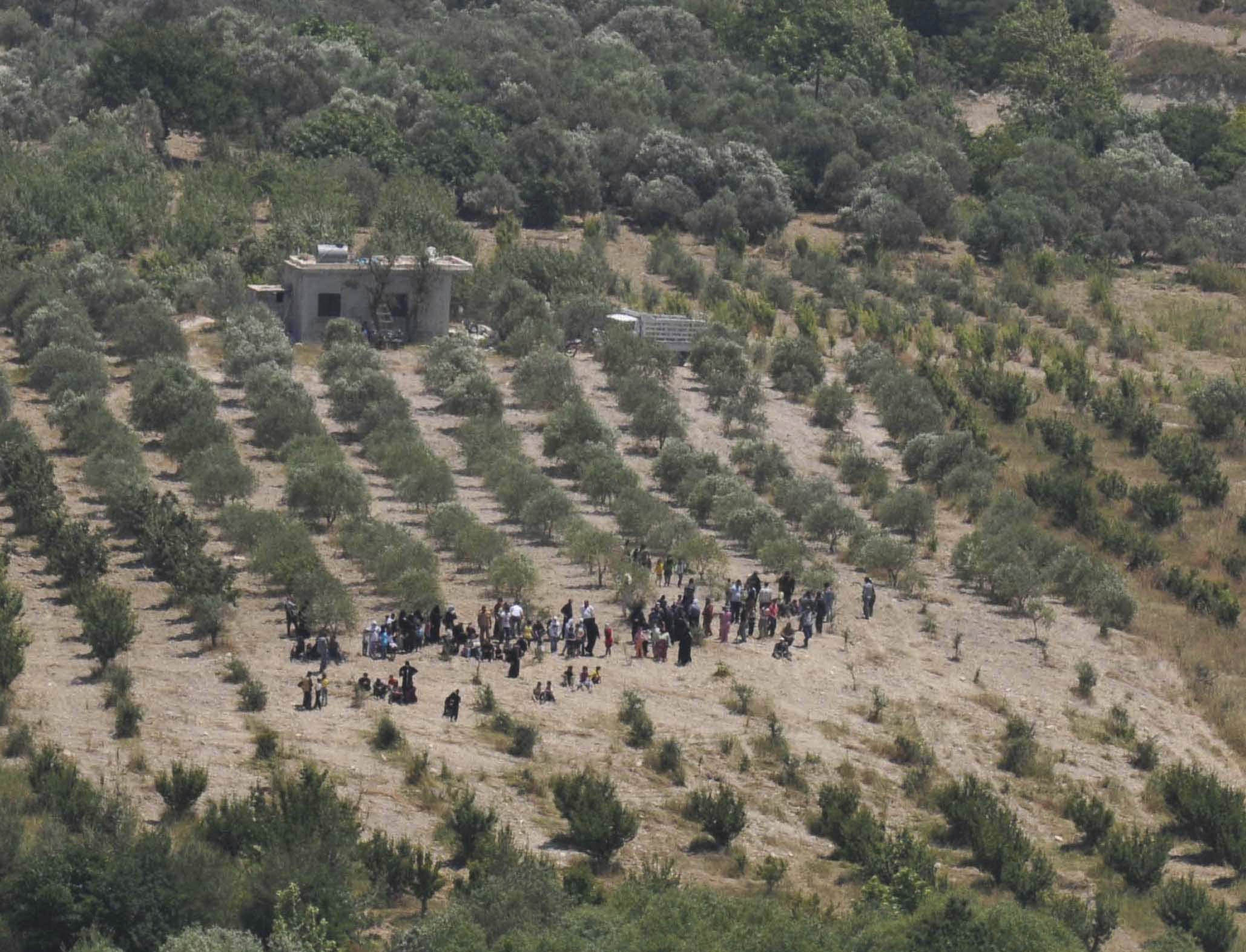Abstrahà dals fugitivs entaifer la Siria, fugian plirs Sirians era en pajais vischins. Quà fugian els en la Tirchia.