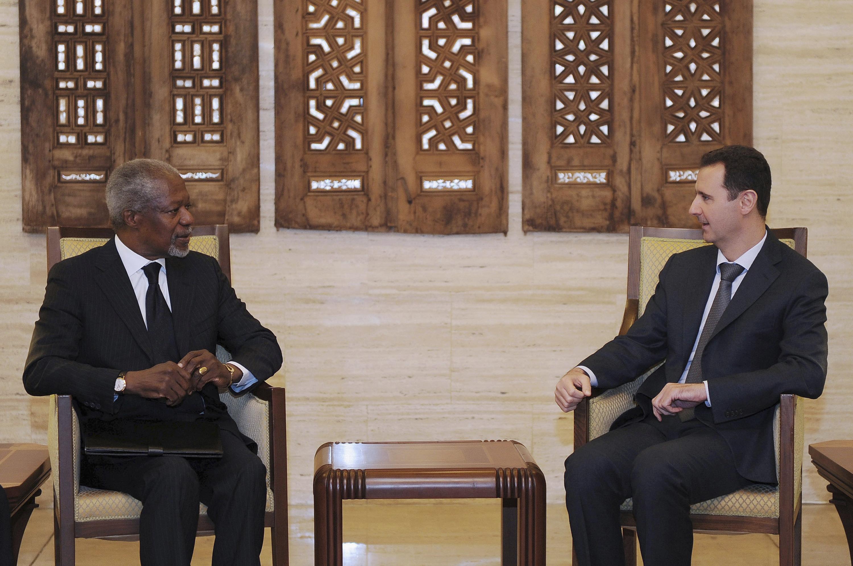 Baschar al-Assad pretenda garanzias a scrit da Kofi Annan, ch'era ils rebels desistian da la violenza.