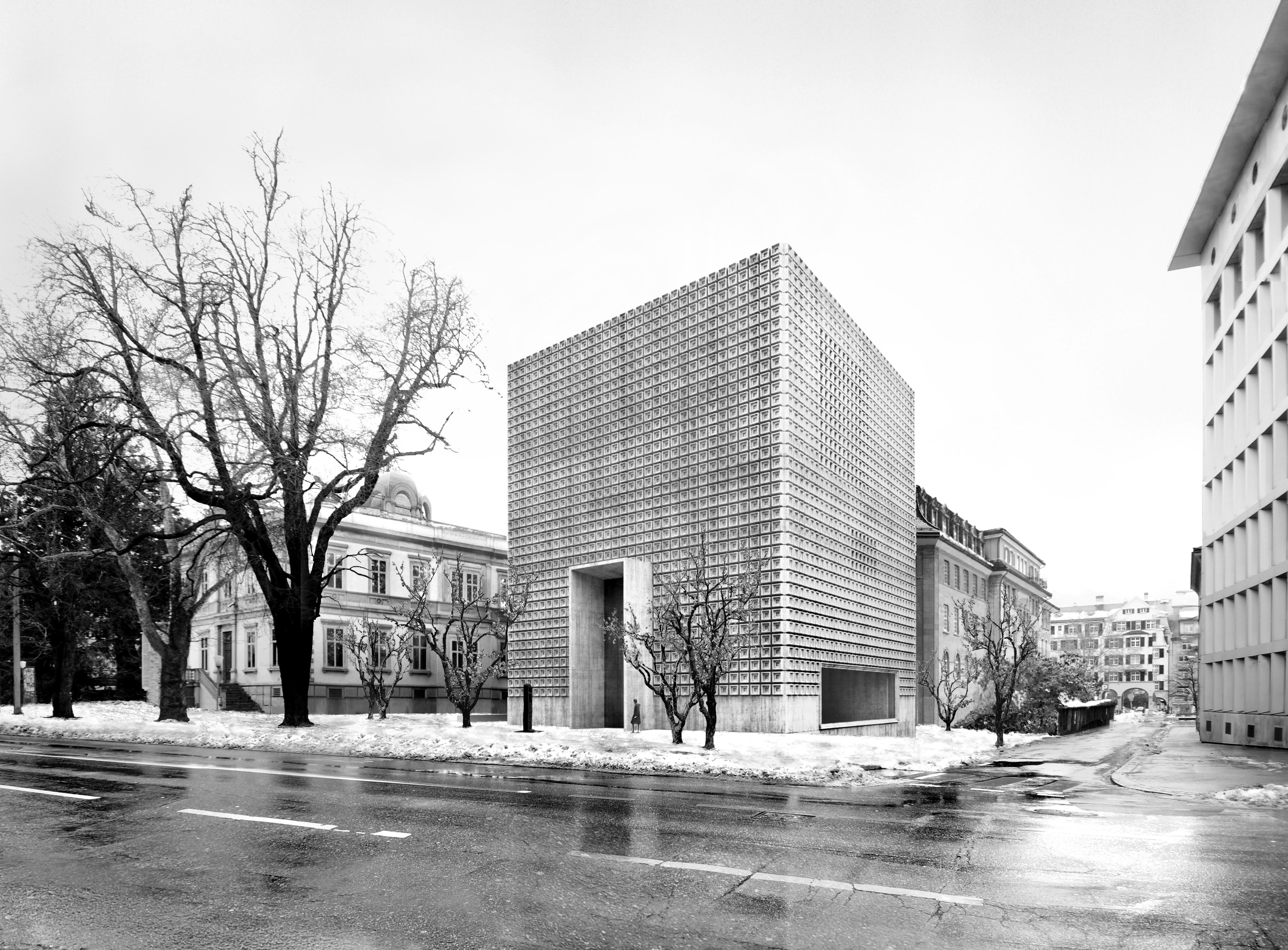 Uschia duess l'edifizi nov per il museum d'art da Cuira vesair ora.