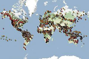 Carta da l'atlas interactiv dals linguatgs periclitads