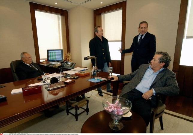 Da sanester: il bab Onsi Sawiris e ses trais figls Naguib, Nassef e Samih Sawiris