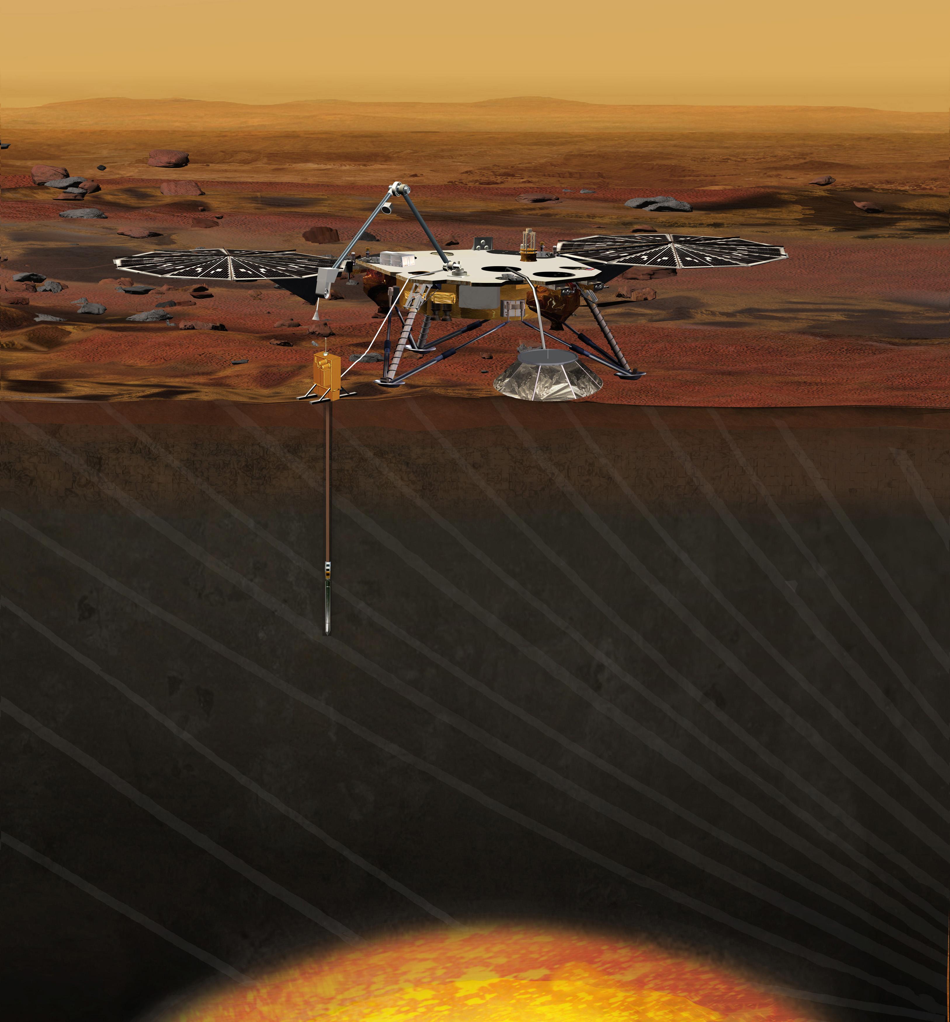 In roboter è sin via sin il mars per perscrutar il Mars.