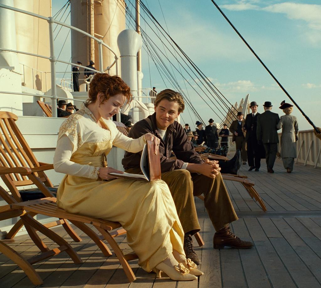 Kate Winslet e Leonardo DiCaprio: Ils dus protagonists dal film Titanic da James Cameron dal 1997.