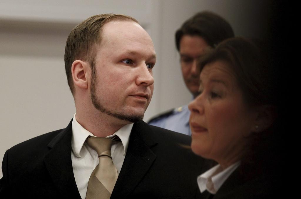 Anders Behring Breivik avant dretgira.