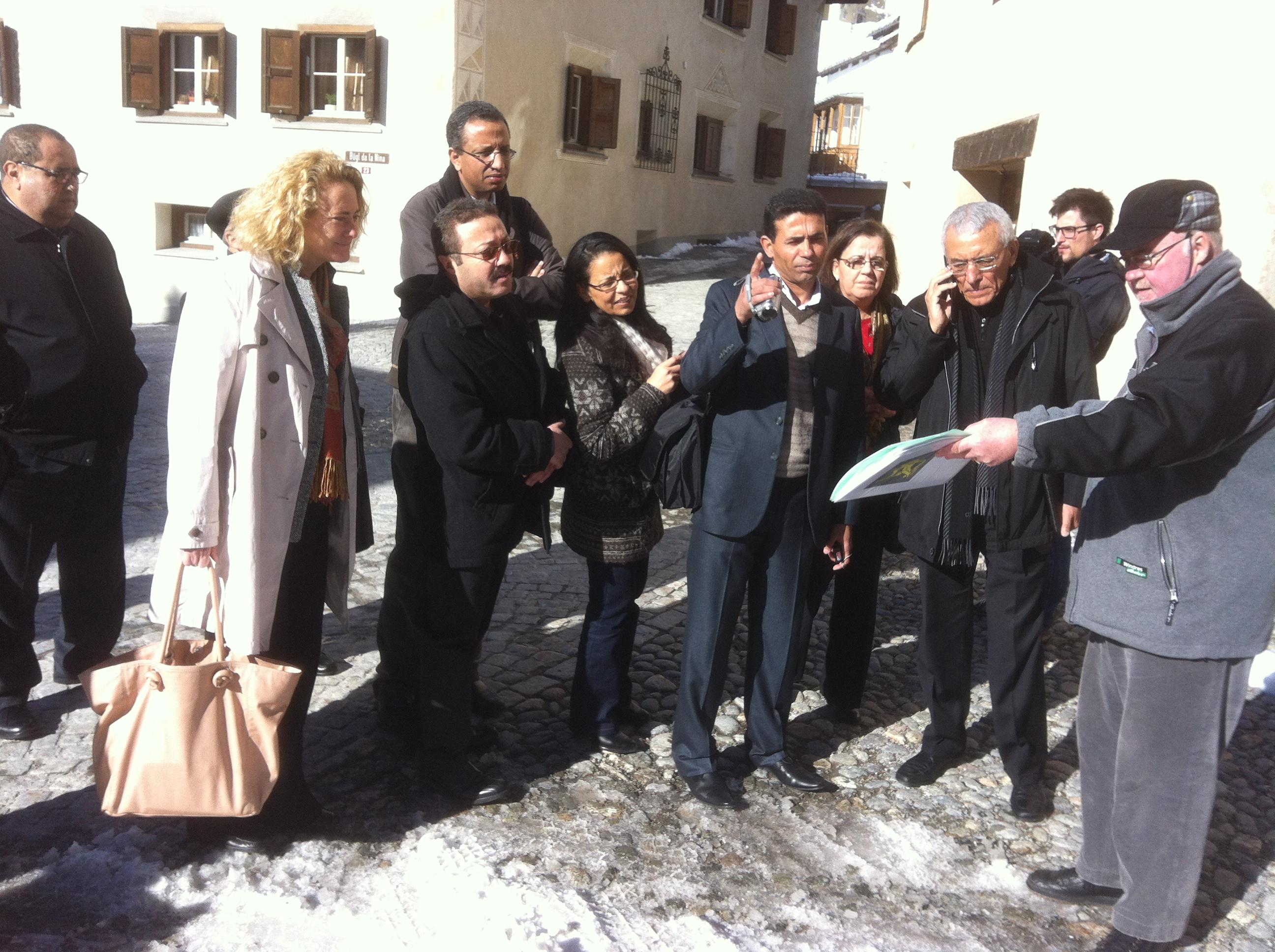 La delegaziun dal Maroc ha tranter auter visità il vitg da Samedan.