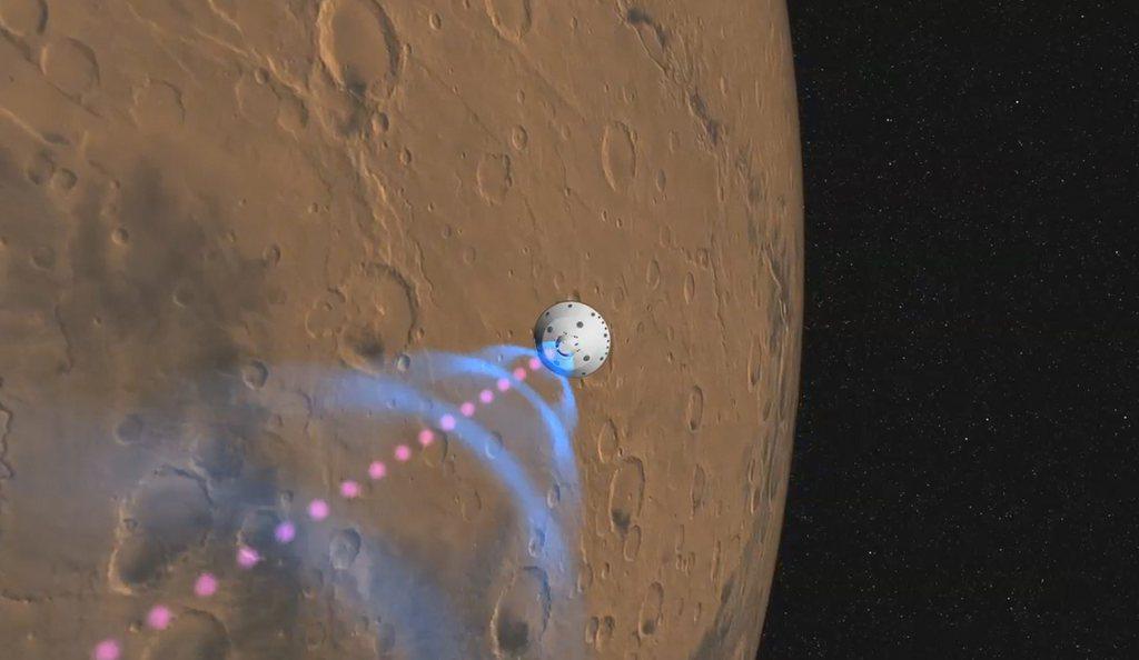 """Il roboter """"Curiosity"""" avant il Mars."""