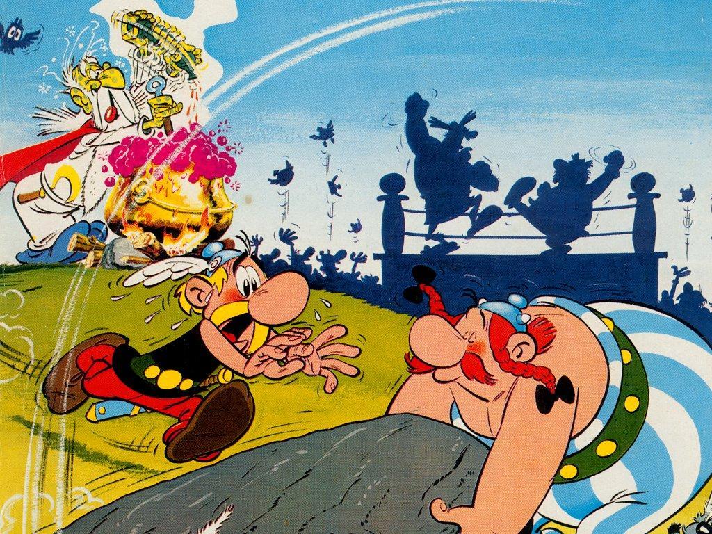 Asterix datti era comics en rumantsch.