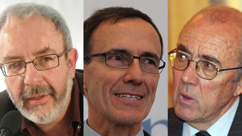 Da sanester: Chasper Pult, Duri Bezzola e Martin Bundi.