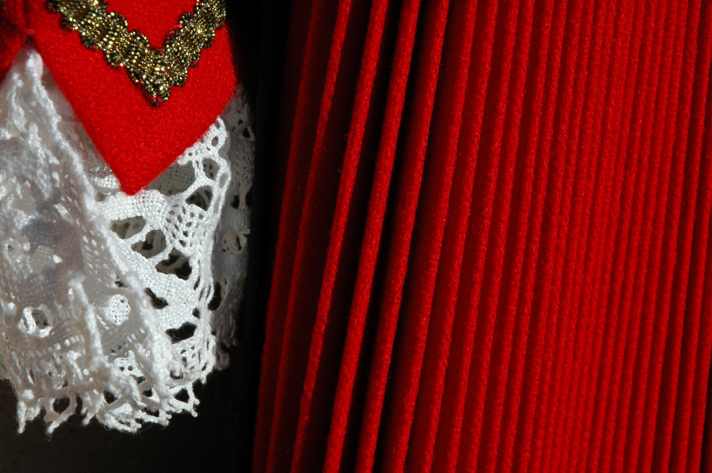 Mintga detagl dal costum è reglamentà.  Las murinellas, las borduras d'aur e la stoffa cotschna...