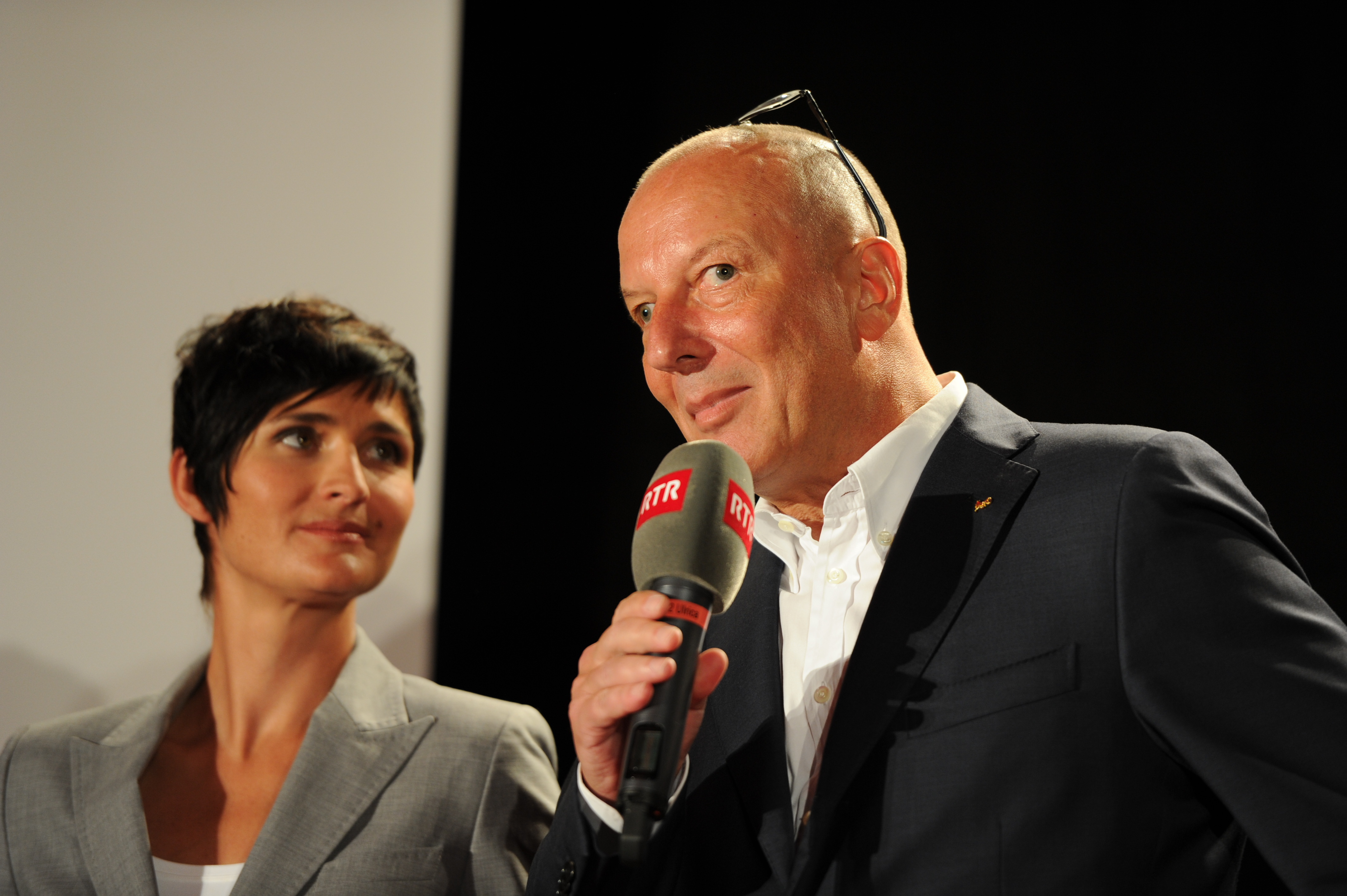 Era il directur general da la SRG SSR, Roger de Weck, porta ils auguris a la Televisiun Rumantscha.