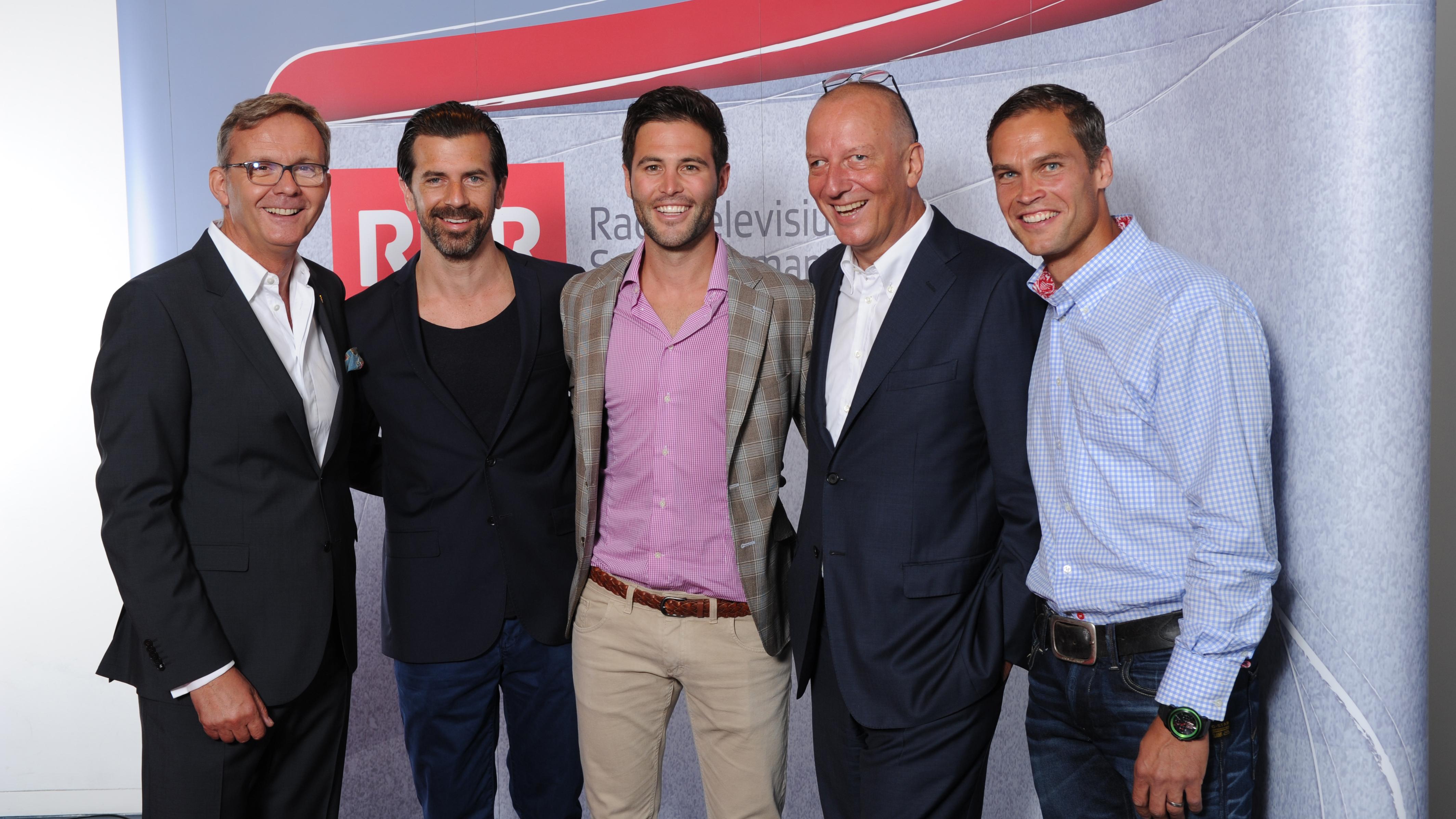Mariano Tschuor, Andreas Caminada, Sandro Cavegn, Roger de Weck e Renzo Blumenthal.