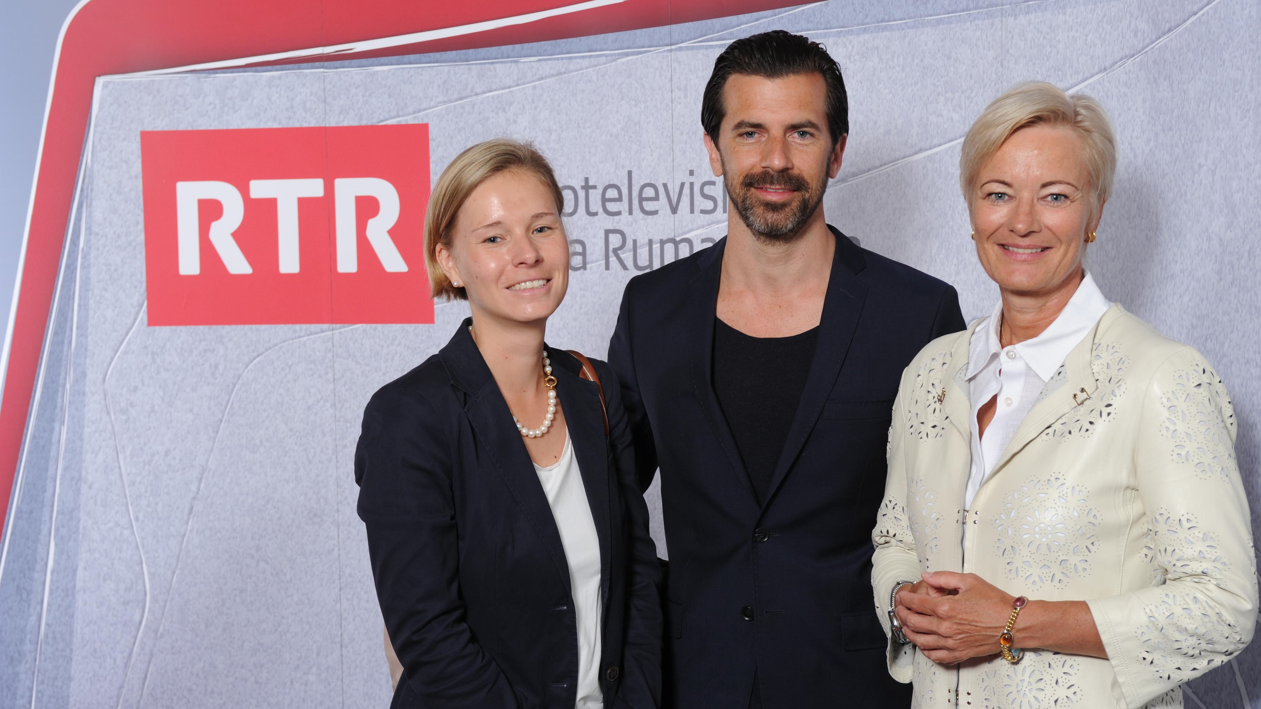 Ladina Heimgartner, Andreas Caminada ed Ingrid Deltenre.