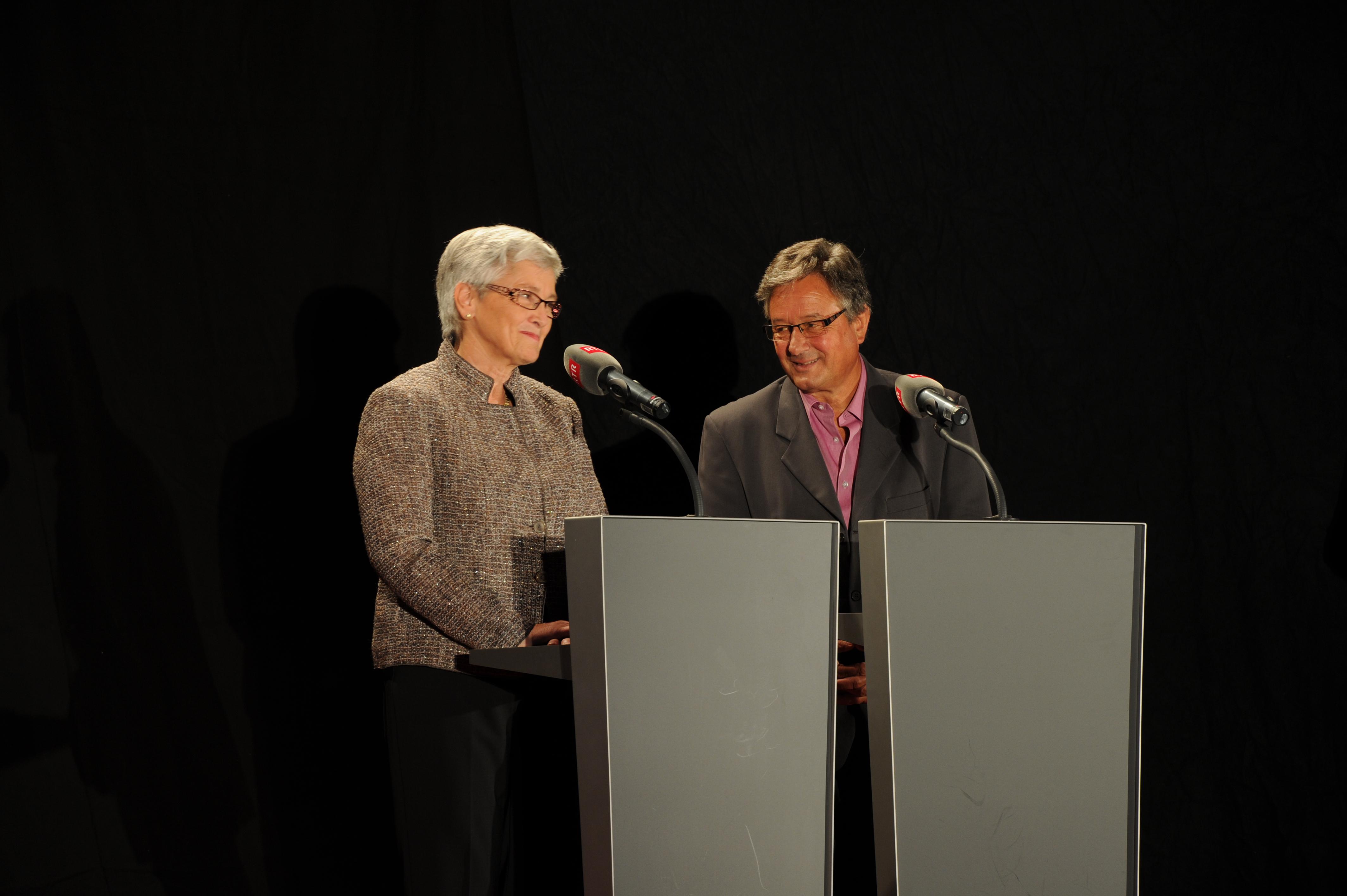 ... Lucia Netzer e Ernst Denoth...