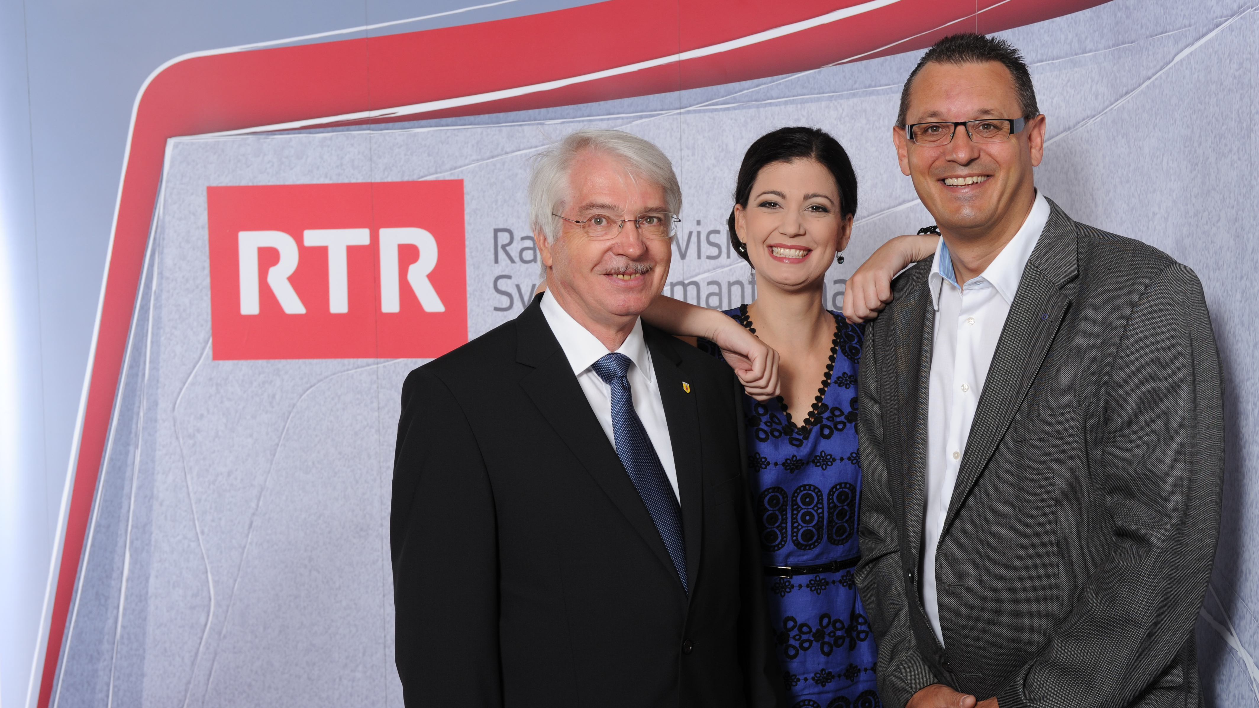 Theo Haas, Maria Victoria Haas e Maurus Dosch.