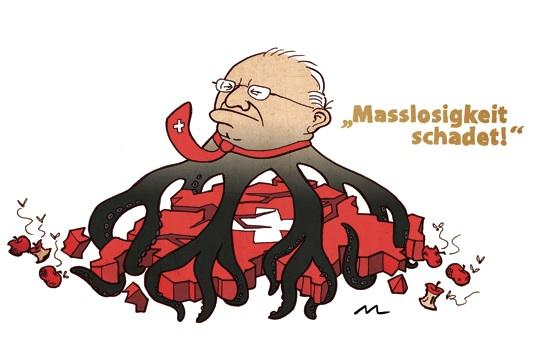 Blocher und die Masseneinwanderungsinitiative.