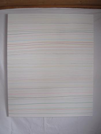 senza titel, 2013, 100 x 120 cm - colurs da legn, rispli, flouters