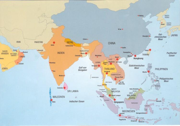 Carta cun l'Ocean Indic.