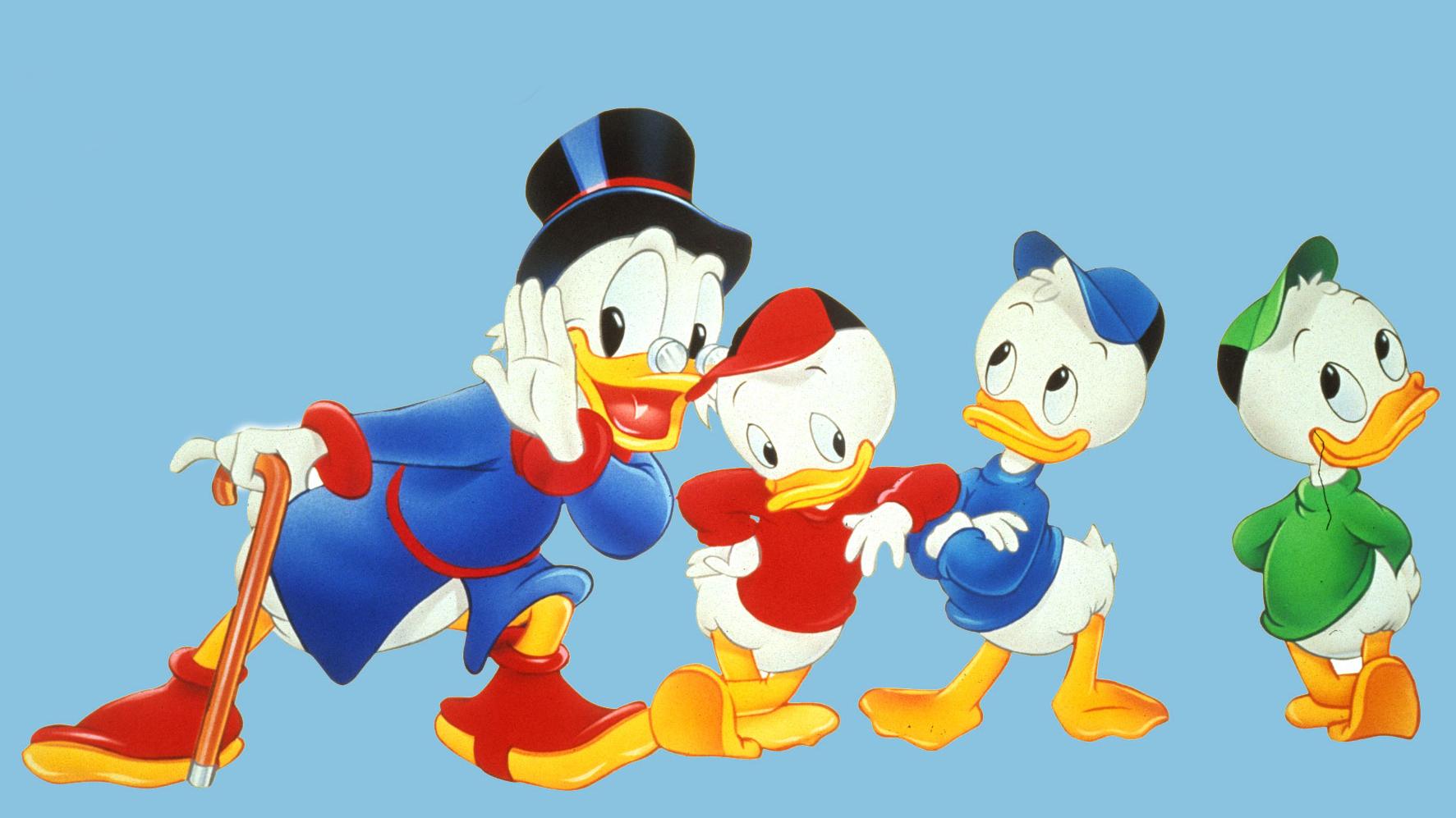 Dagobert Duck cun Tick, Trick e Track.