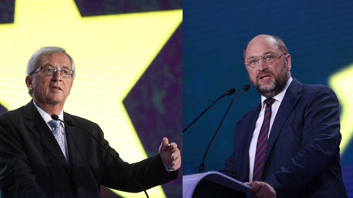 Jean-Claude Juncker (sanester) e Martin Schulz.