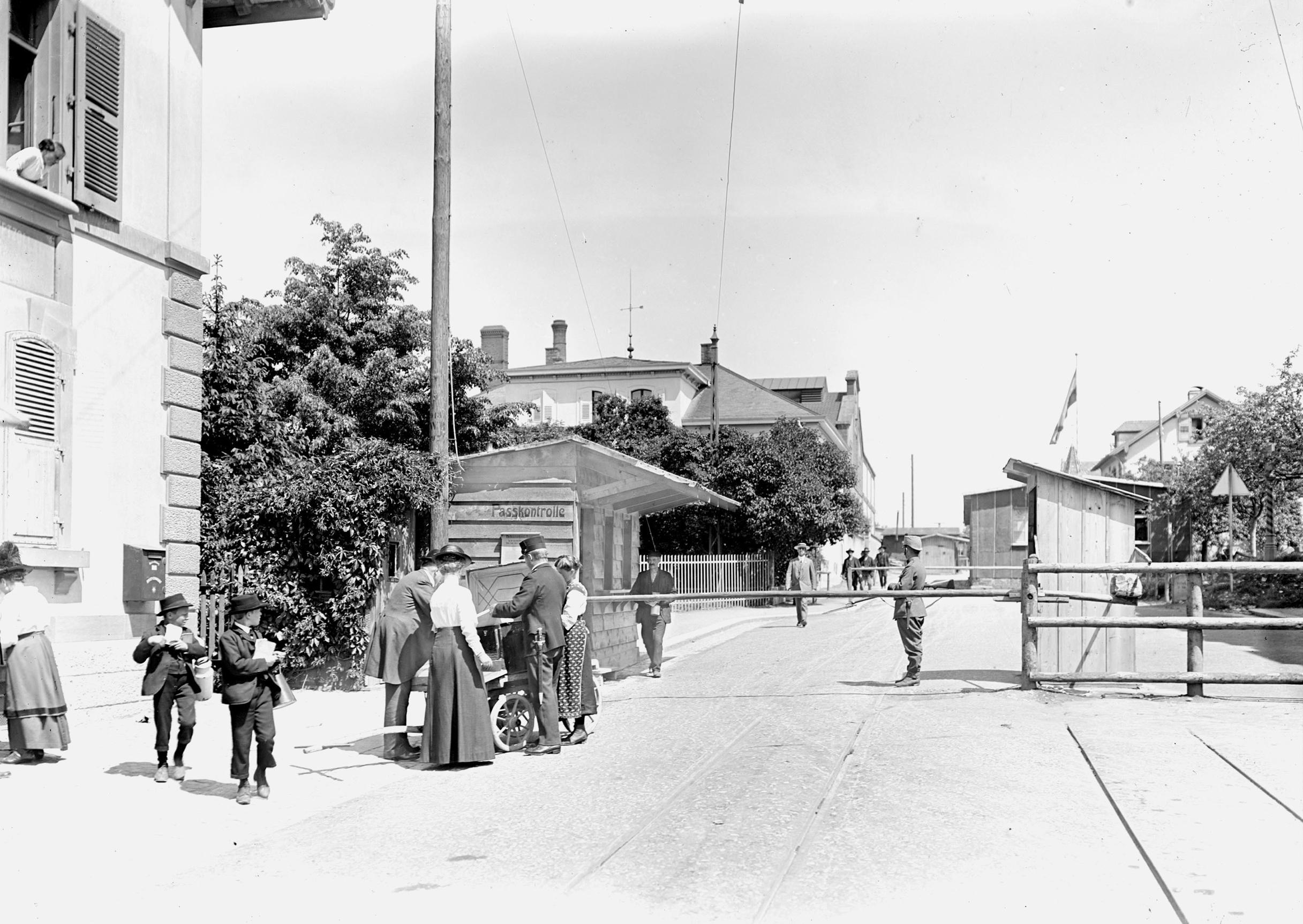 Cunfin a Riehen 1914-1918.