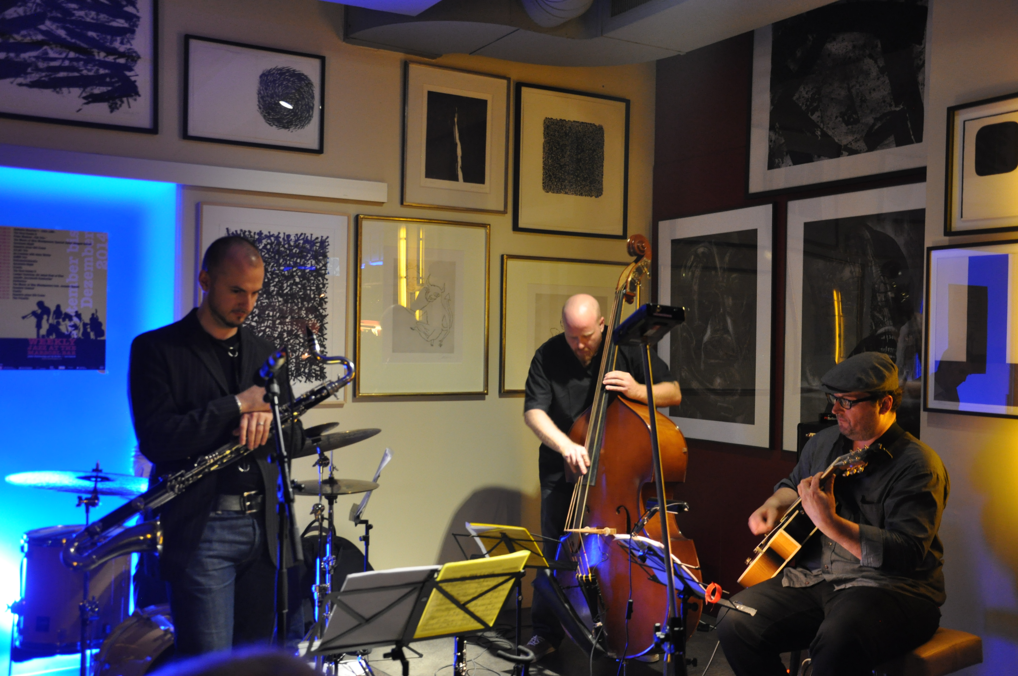 Weekly jazz – il concert cun Rees Coray, Rolf Caflisch, Patrick Holzer e Simon Wyrsch.