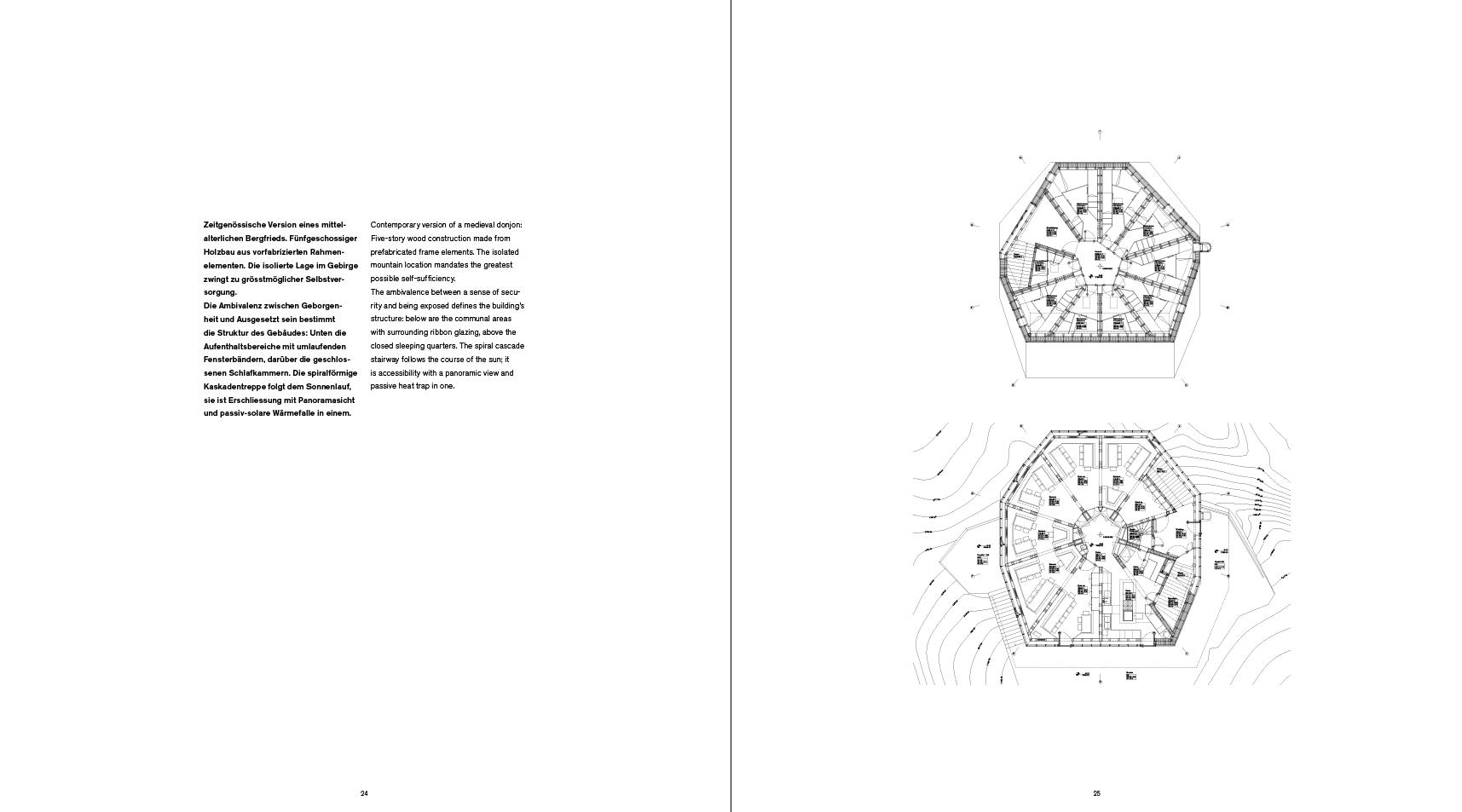 Impressiun dal cudesch Amurs: Amurs – Bearth & Deplazes – concepit dal tipograf Ramun Spescha.