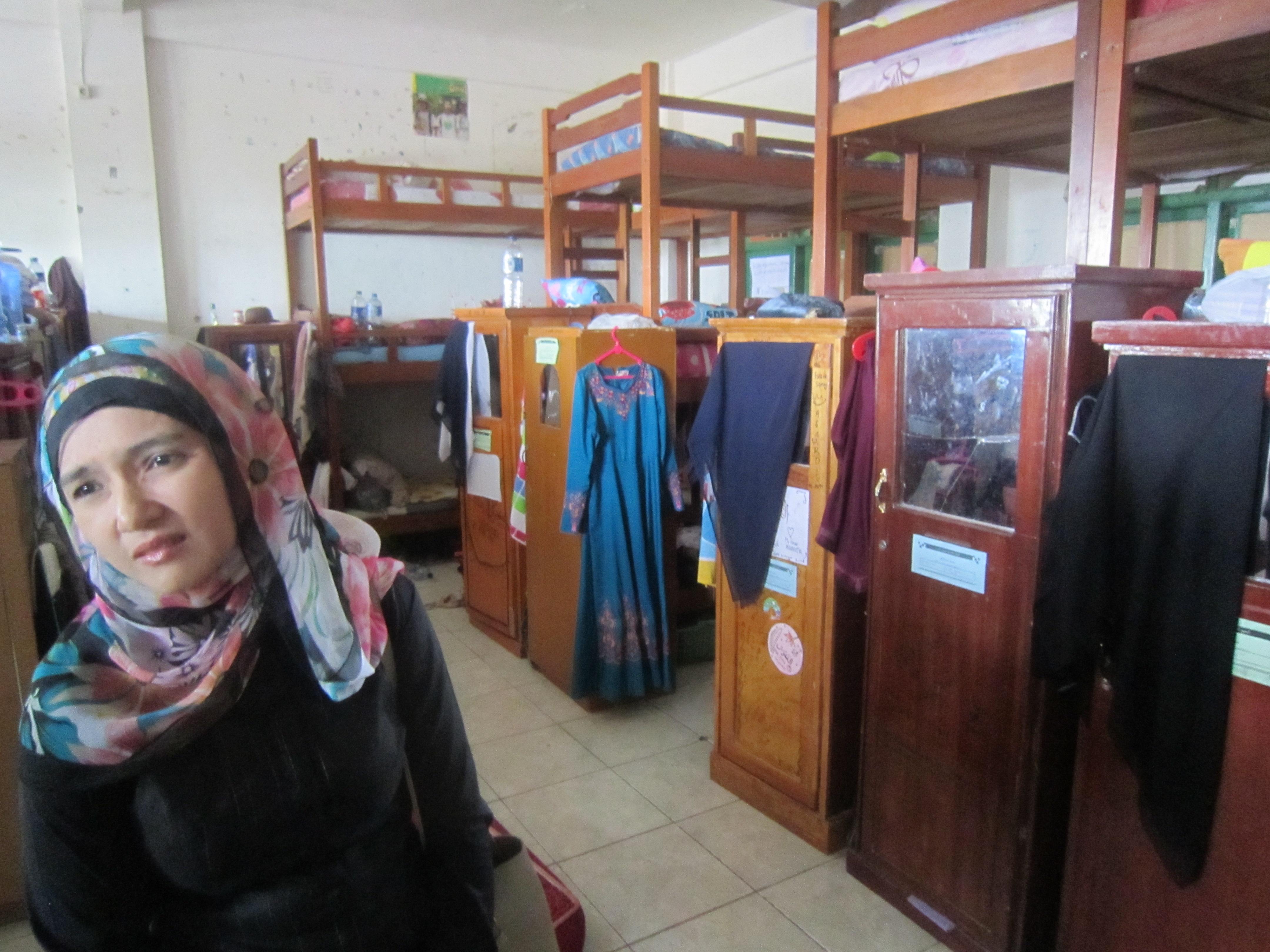 Stanza da durmir d'ina scola cun internat a Banda Aceh.