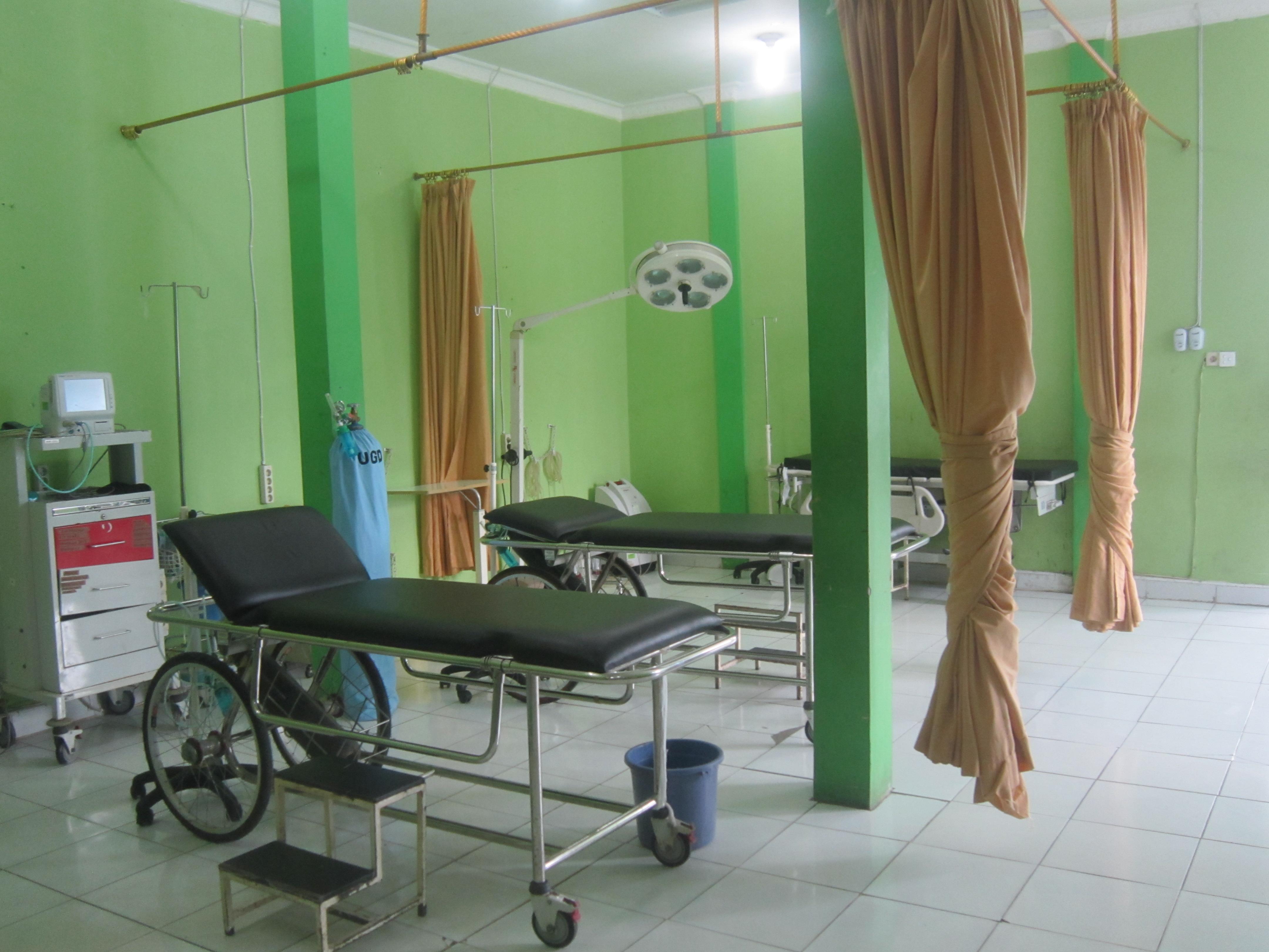 Staziun d'urgenza dal spital da Nagan Raya.