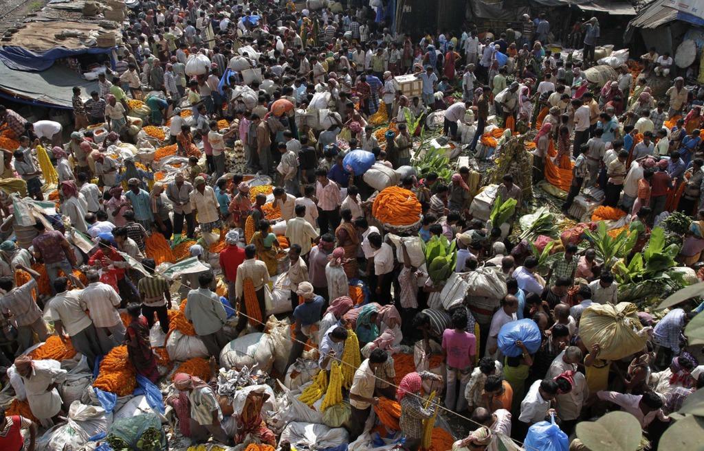 L'India ha ina populaziun da varga ina milliarda persunas.