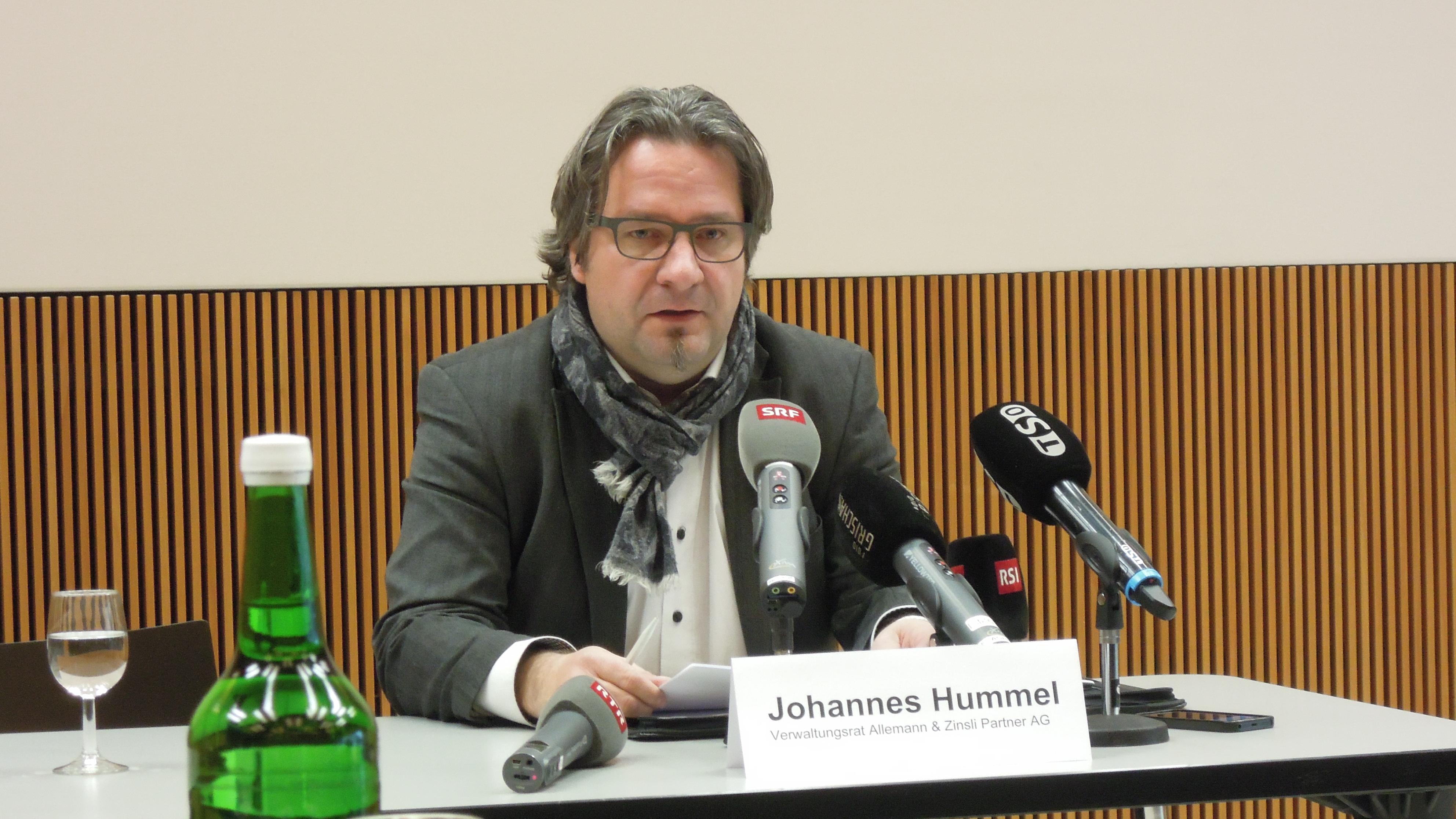 Johannes Hummel dal cussegl d'administraziun da la fatschenta Allemann Zinsli Partenaris SA.