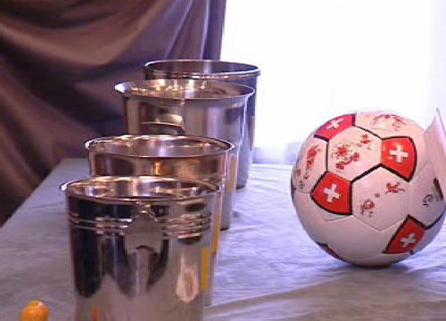 Trair la sort tranter las equipas da ballape da l'Europeada 2008
