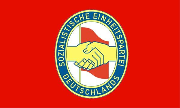Logo da la Partida unitara socialista da la Germania (SED)